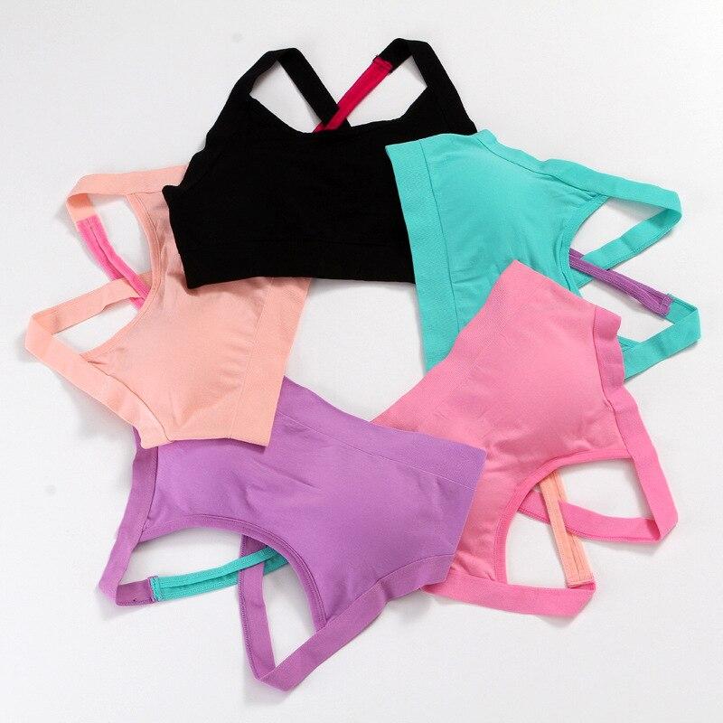 Cross Back Stitching Color Sports Bra Women Fitness Bra Breathable Yoga Bra Women Underwear Brassiere Sport Bra Top Bralette 2