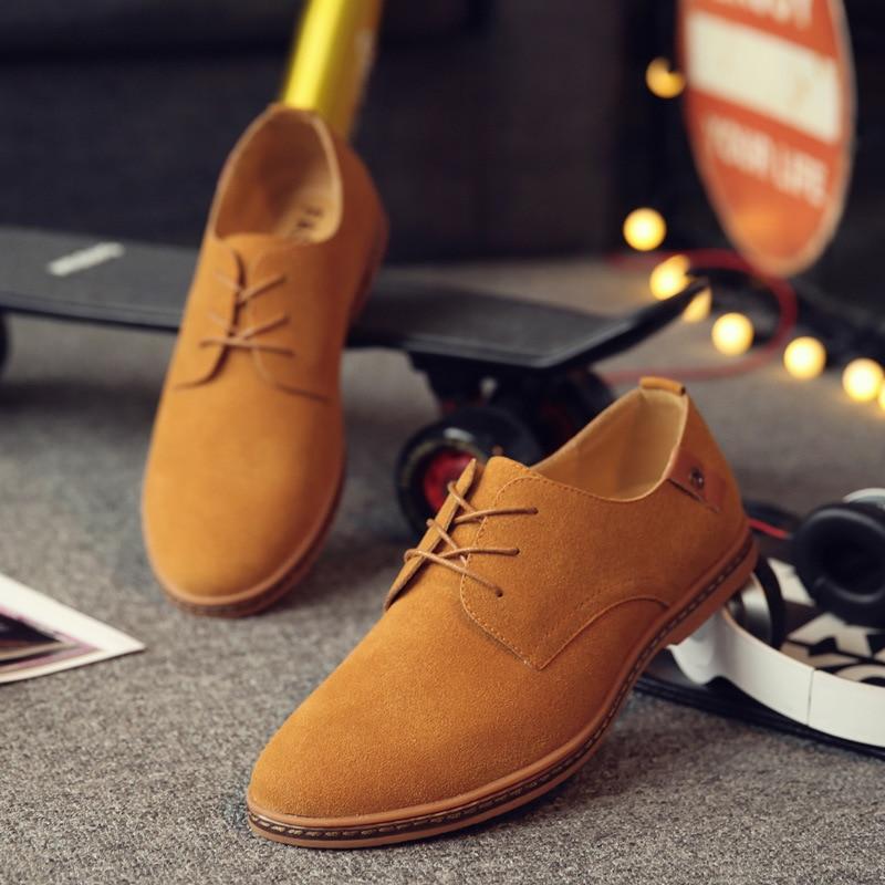 2017 Hot Sale Fashion Men Suede Leather Casual Shoes men spring autumn tide brand Designer Casual Men Shoes Lace Up Shoes Men<br><br>Aliexpress