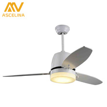 Europeanultra quiet ceiling fan 220V invisible ceiling fans modern fan lamp for living room, european ceiling lights with lights