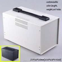 One pcs 275*160*150mm project box with handle junction box iron enclosure for electronic distribution box DIY control box