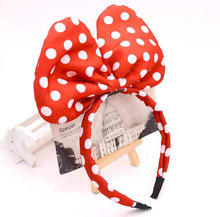 mickey Minnie Mouse Headbands, Minnie Mouse Ears, Boys and   Bowknot Headwear for Birthday Party