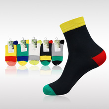 Free Shipping 10pcs=5 pairs/lot Men's Bamboo fiber Fashion Socks, from factory, cheap and high qualtiy man sox sock