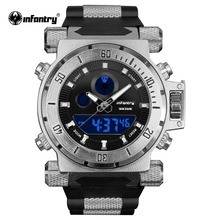 Men Watches Top Luxury INFANTRY Business Casual Big Dial Analog Digital Watch Military Silicone Waterproof Relojes Hombre 2018(Hong Kong,China)