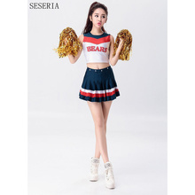 SESERIA High School Cheer Musical Glee Cheerleader Costumes Outfit Top+Skirts