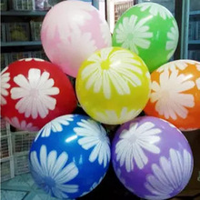 100PCS/Lot Flower Ballons Expression Latex Multicolor Colorful Little Daisy Balloons Birthday Party Wedding Decoration Ballons(China)
