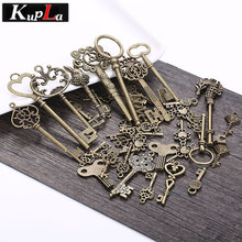 Vintage Metal Mixed Charms Key Shape Charms for Jewelry Making DIY Fashion Handmade Decoration Key Pendant Charms C6077(China)