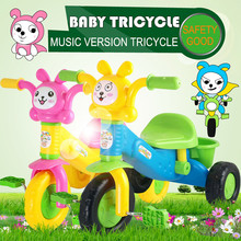 Baby Tricycle Kids Ride On Bikes Baby Walkers Control Bicycle Music Version Cartoon Children's Bicycles Safe Riding Toys Cars(China)