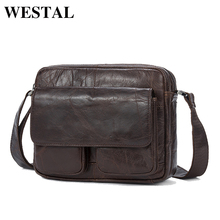 WESTAL Genuine Leather Bag cowhide Men Bags male Shoulder Crossbody Messenger Flap Casual Handbags men 8931 - Westal Store store