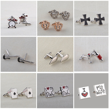 High-grade 13 Style Trendy Vintage Cuff Links Band drums / guitar musical instrument French shirt cufflinks for men and women