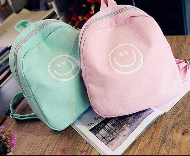 Korean ulzzang soft sister backpack high school student  preppy style smile face print mini school bag harajuku book bag<br><br>Aliexpress