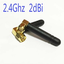 1PC  2.4Ghz antenna SMA male right angle connector 2dbi wifi antenna module NEW high quality mini aerial hf antenna