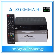 3 pcs /lot ZGEMMA H5 Satellite receiver HD Combo DVB S2 DVB T2/C satellite tv decoder support HEVC/H.265(China)