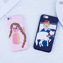 Buy Cartoon illustration Phone Back Cover iphone X case iphone 7 6 6S 8 Plus case Perfectly protected tpu cover Coque Fundas for $2.39 in AliExpress store