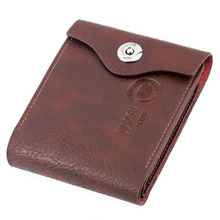 New Arrival Fold Wallet Gift Hot Wallet Men Genuine Leather Brown Credit/ID Card Purse Gift High Quality