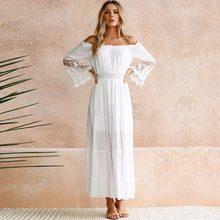 Long White Beach Sundresses