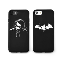 New Cartoon Batman Case for iPhone 7 6 6s plus Clown Rock Black&White Soft Silicon Rubber Mobile Phone Cover for iPhone 7 6plus(China)