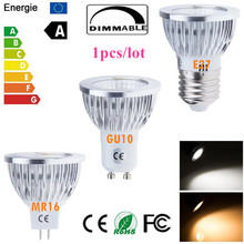 1X Super Bright GU 10 Bulbs Light Dimmable Led Warm/White 85-265V 6W 9W 12W GU10 E27 MR16 E14 COB LED lamp light  led Spotlight
