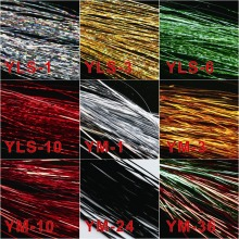 1/69''-Width Yarn Fly-Tying Maximumcatch Holographic Flashabou 4-Packs