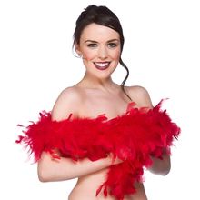 2 yards\lot Holiday Party Wedding Red Clothing Accessories Turkey Feather Strip Fluffy DIY Boa Birthday Decorations Supplies(China)