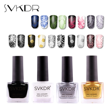 SVKDR 2018 New Arrival Stamp Nail Polish & Stamping Polish Nail Art Stamping Nail Lacquer for Nail DIY Manicure Art Tool 12Color(China)