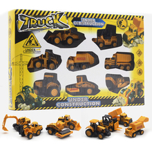 8 Pieces/Set 1:64 Alloy Engineering Car Sets Model Diecast Classic Engineering Machinery Toy Excavator Vehicle For Boys Gifts(China)