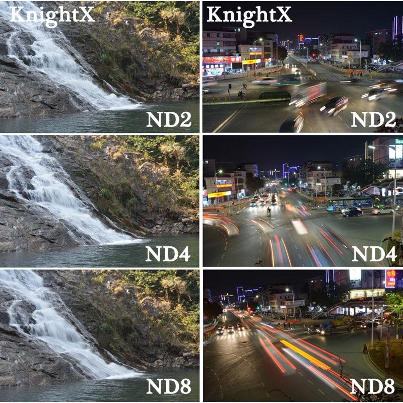 KnightX 52MM 58 67 67MM Graduated ND Color Lens fld uv cpl Filter set for Canon Nikon Sony d5300 5D 6D 7D DSLR SLR camera Lenses 9