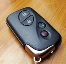 Keyless Entry 4 Buttons Smart Card Key Shell Case For Lexus ES350 LS460 GS350 IS RX SC With Emergency Key Blade Fob Key Cover