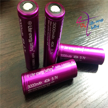 4pcs/lot Liter energy battery 3000mah Rechargeable battery for Electronic Cigarette Box Mod High Quality with battery case gift