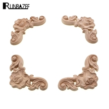 RUNBAZEF Home Decoration Accessories Wooden Cupboard Doors And Windows Small Decorative Floral Applique Mini Crossbow Kawaii