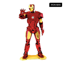 Fding Super Hero The Avengers Iron Man MACHINE Mask Helmet Metal NANO puzzles 3D puzzles Pendant for Man Boy Kids Gift Chinses