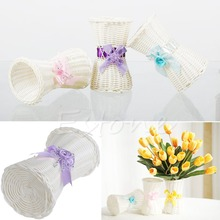 1Pc Artificial Rattan Vase Flower Fruit Candy Storage Basket Garden Party Decor Warm's house