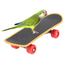 Skateboard Parrot Bird Toy Pet Bird Parrot Stand Platform Bird Cage Decoration Parrot Bird Training Toy Hamster Toy For Hamster(China)