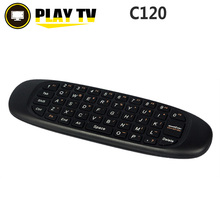 [Genuine] 2.4GHz C120 Fly Air Mouse Gaming English Russian Wireless Keyboard Remote Control for Smart TV BOX Computer Mini PC