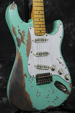 High quality 100% Handmade Relic 1961 FD ST electric guitar soft green color  aged hardware  nitrolacquer finish