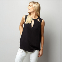 Buy MAKE NEW 2018 Tank Blouse Fashion Women Lady Summer Vest Tops Sleeveless Chiffon Hollowed Shirt Casual Tank Shirt for $6.39 in AliExpress store
