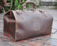 High Quality! Mens Genuine Real cowhide Leather Duffle Travel Luggage Suitcase Messenger Shoulder Bags 8151