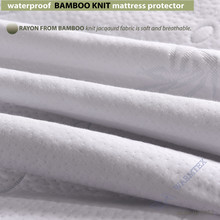 queen size1.5m bed  bedwaterproof Bamboo Knit Jacquard mattress Protector Jacquard cloth mattress cover 100% Waterproof W014
