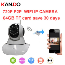 16g can save 10day Onvif DVR easy wifi camera V380 1000 peopel to watch 720P H.380 P2P camera IR cut night vision WiFi IP Camera