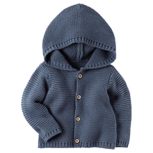 2017 Fashion baby boy girl sweaters 9M-3T hooded pullover kids Knitted Sweater girl clothing autumn winter Cardigan clothes(China)