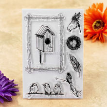 Bird House Bird Scrapbook DIY photo cards account rubber stamp clear stamp transparent stamp 10x15cm KW6112436
