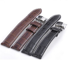 Carnival accessories watch strap butterfly buckle luxury cowhide genuine leather watchband18 20 22mm male female watches relogio(China)