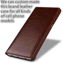 JC05 Genuine Leather Flip Style Mobile Phone Case For HTC One M9 Plus(5.5') Phone Case For HTC One M9 Plus Phone Bag
