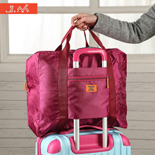 J.M Luggage on Suitcase Weekender Travel Baggage Bolsas Nylon Large Capacity Travel Overnight Handle Valises Portatrajes Borsone