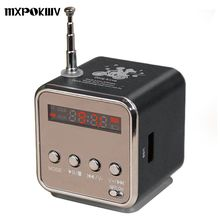 TD-V26 Mini Speaker Aluminum Alloy Digital FM Radio USB Music Player Stereo Bass Receiver With Micro SD TF For phone Laptop
