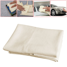 50*80CM Natural Shammy Chamois Leather Car Cleaning Towels Drying Washing Cloth New Arrival(China)