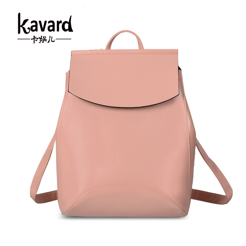 Kavard Spanish Brand 2017 Design Pu Women Leather Backpacks School Bag Student Backpack Ladies Bags Package Female
