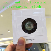 Sound and light control switch corridor intelligent 86 embedded light sensor close to the voice control switch LED lights Switch(China)
