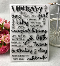 Common words stamp Clear Stamp for Scrapbooking Transparent Silicone Rubber DIY Photo Album Decor QZ22(China)