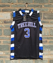 New LIANZEXIN NO.3 The film version of One Tree Hill Lucas Scott Need Double Stitched mesh basketball Jersey Black Men Jerseys(China)