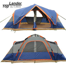 4 Season Outdoor Automatic Tent Camping 5-6 Persons Double Layer Family Tents Waterproof Beach Large Camping Tent Automatic(China)